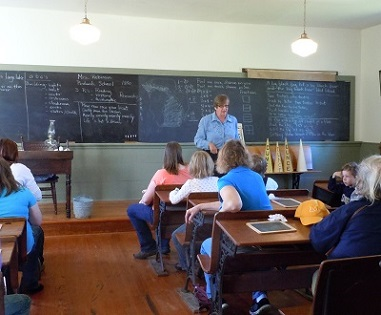 One room school classroom